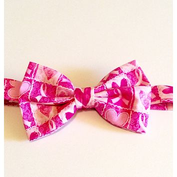 Breast Cancer Awarness Bow Tie