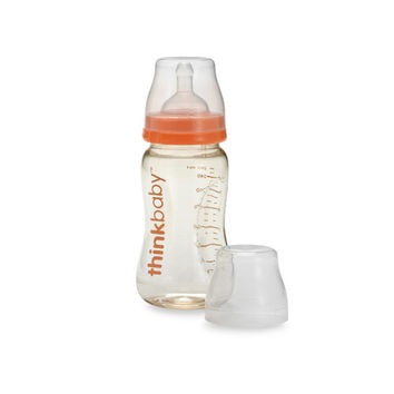 Thinkbaby Baby Bottle with Stage B Nipple (6-12 Months) - 9 oz