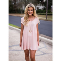 Tee Shirt Dress - Blush