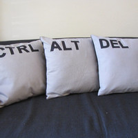 Pillow Cover - Two and a Half Men Pillow Cases - Keyboard Ctrl, Alt, Del Pillow cases - Pillows