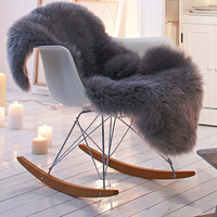 Shaggy Faux Fur Animal Pelt Chair Throw Covers - Choose Your Color