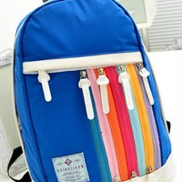 Rainbow Color Zips Sport Backpack