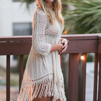 Crochet Fantasy Fringe Tunic Dress