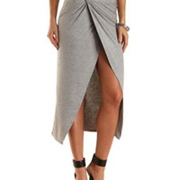Ruched & Knotted Maxi Skirt by Charlotte Russe
