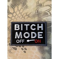 """bitch mode on off meter funny morale 3x2"""""""