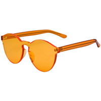 Orange Transparent Cat-eye Sunglasses