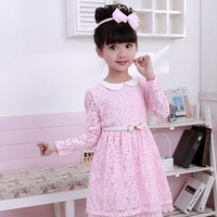 Summer Little Girl Boutique Dress Lace White Pink Princess Costume For Kids Party Wear Children Girls Clothes Robe Fille Enfant