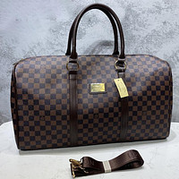Louis Vuitton LV Fashion Leather Crossbody Satchel Luggage Bag