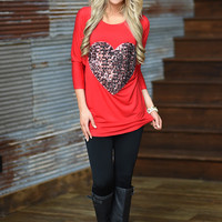 Spark in My Heart Top ~ Red
