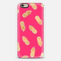 Gold Pineapples Tropical Pink iPhone 6 case by Crystal Walen | Casetify