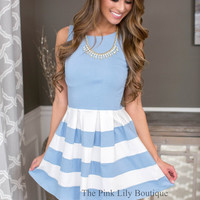 Spring Delight Baby Blue Dress