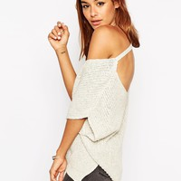 ASOS TALL Sleeveless Chunky Knit Top With V Back And Side Splits