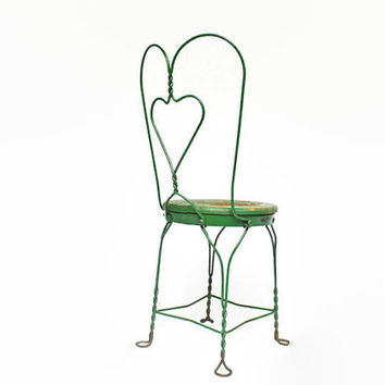 Vintage Sweetheart Twisted Iron Chair From Vintassentials On