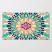 Cool Pink Retro Geometry #2 Area & Throw Rug by 2sweet4words Designs