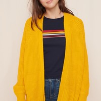 Oversized Open Front Cardigan