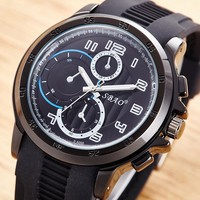 Silicone Waterproof Men Watch [10816522179]