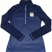 Manchester City FC Majestic CoolBase 1/4 Zip Long Sleeve Top Size L
