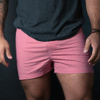 Red & White Gingham Boxer Short - Julio Size M Available