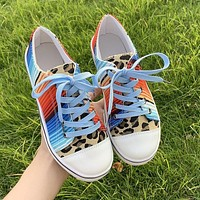 2020 new women's round toe rainbow low-top sneakersshoes