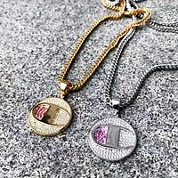 Champion x KING ICE New Fashion Diamond Pendant Women Men Necklace Accessories