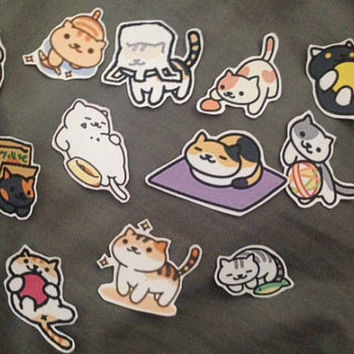 Neko Atsume Sticker set