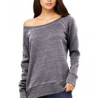 Slouchy Off-the-Shoulder Sweatshirt