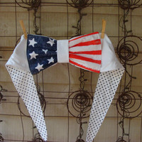 All American BowTop Bandeau/Halter/Crop Bow Top by livelygal