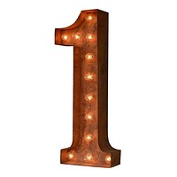"24"" Number 1 (One) Sign Vintage Marquee Lights"