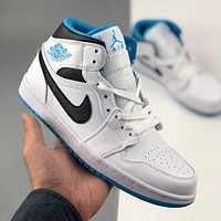 NIKE AIR JORDAN 1 Mid mid-top trend all-match casual sneakers shoes