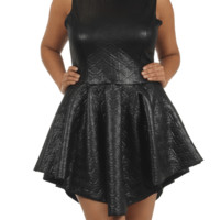 Plus Size Born To Rock Textured Leather Skater Dress, Plus Size Clothing, Club Wear, Dresses, Tops, Sexy Trendy Plus Size Women Clothes