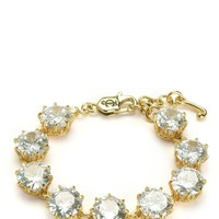 Gold Iconic Crown Set Stone Bracelet by Juicy Couture, O/S