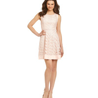 Jessica Simpson Floral Lace Fit-and-Flare Dress | Dillards.com