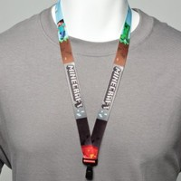 Official Licensed Minecraft 30 Inch Cloth Lanyard with Clip