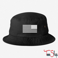 American Flag Tactical Subdued bucket hat