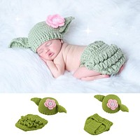 Baby Yoda Star Wars Inspired Knitted Hat Set