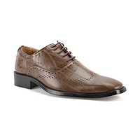 New Men's W2015-4 Formal Pin Striped Wing Tip Oxford Shoes