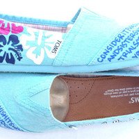 The Molokai- Teal and Blue Custom TOMS