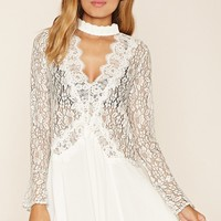 Floral Eyelash Lace Shift Dress