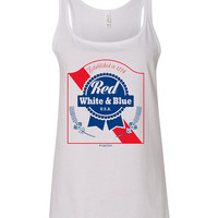 4th Of July - Red, White & Blue Woman's Relaxed Tank Top