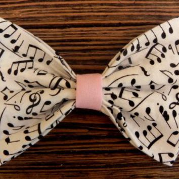 Little Lady Boutique  | Big lovely notes bow , baby pink center | Online Store Powered by Storenvy