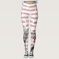 The Raven Vintage Poem Leggings