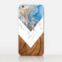 Marble Wood Phone Case  - iPhone 7 Case - iPhone 7 Plus Case - iPhone SE Case - Samsung S7 Case - iPhone 6S - Tough Case - Matte Case