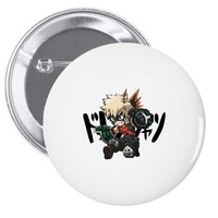 my hero academia katsuki bakugo Pin-back button