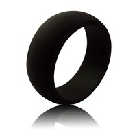 Men's Silicone Ring (9MM) - Jet Black