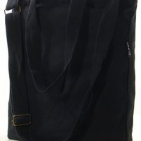 Classic Urban Canvas Messenger Tote (Black)