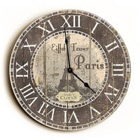 Eiffel Tower Vintage Style Unique Wall Clock by Dickery Dock