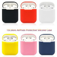 15 Colors Silicone AirPods Protective Case, Airpods Headset