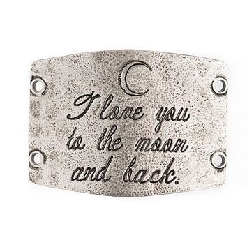"""""""I Love You to the Moon and Back"""" Lenny and Eva Large Sentiment"""