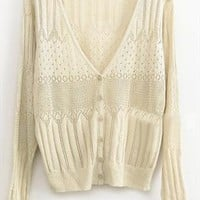 A 072912 Sweet hollow thin knit cardigan from cassie2013