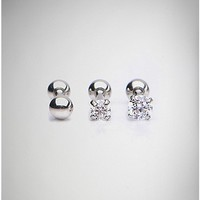 Cz Cartilage Earring 3 Pack - 16 Gauge - Spencer's